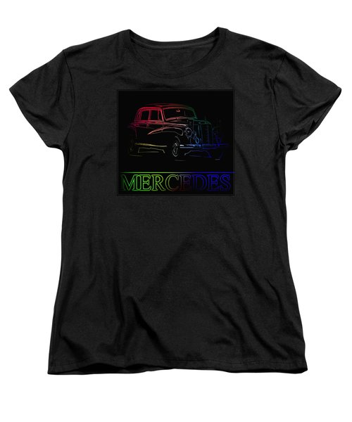 Women's T-Shirt (Standard Cut) featuring the photograph Vintage Mercedes by George Pedro