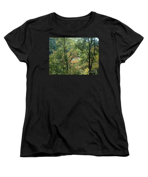 Virginia Walk In The Woods Women's T-Shirt (Standard Cut) by Mark Robbins