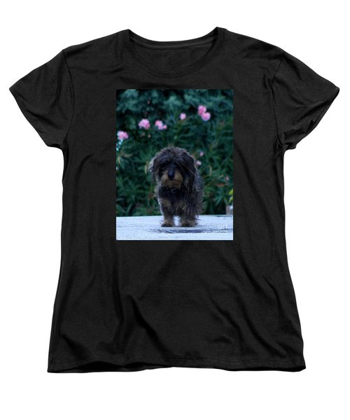 Women's T-Shirt (Standard Cut) featuring the photograph Waiting by Lainie Wrightson