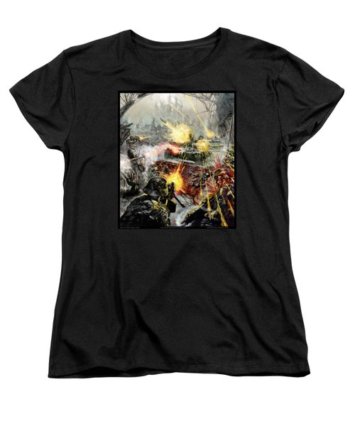 Wars Are Designed To Destroy  Women's T-Shirt (Standard Cut) by Tony Koehl
