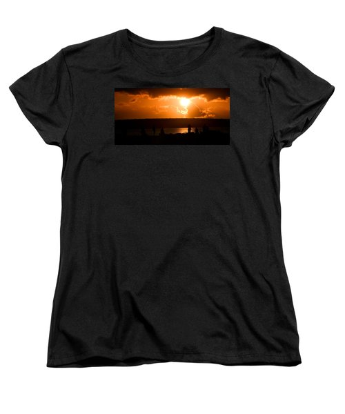 Women's T-Shirt (Standard Cut) featuring the photograph Watching Sunset by Yew Kwang