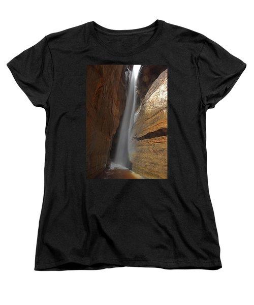 Water Canyon Women's T-Shirt (Standard Cut) by Susan Rovira