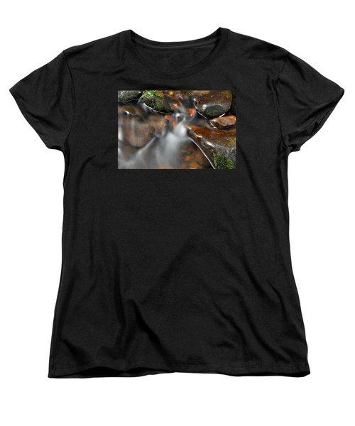 Water Over Rocks Women's T-Shirt (Standard Cut) by Kay Lovingood