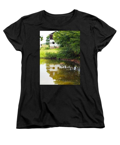 Water Reflections Women's T-Shirt (Standard Cut) by Robert Margetts