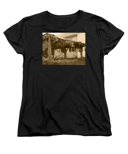 Women's T-Shirt (Standard Cut) featuring the photograph Weathered And Blown To Pieces by Kym Backland