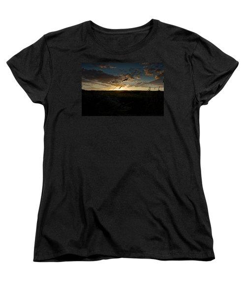 Wheat Fields  Women's T-Shirt (Standard Cut) by Beverly Cash