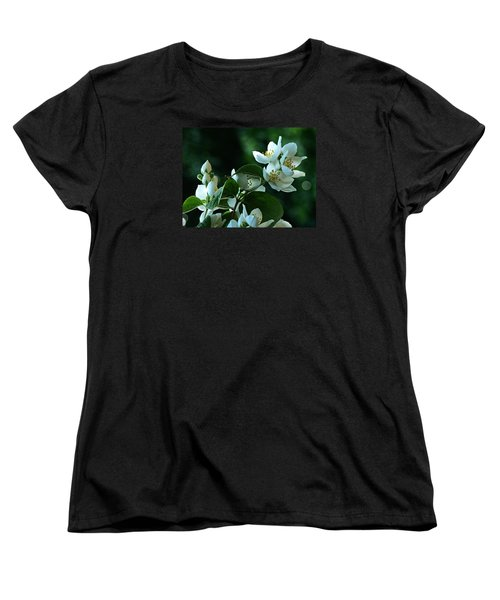 Women's T-Shirt (Standard Cut) featuring the photograph White Buds And Blossoms by Steve Taylor