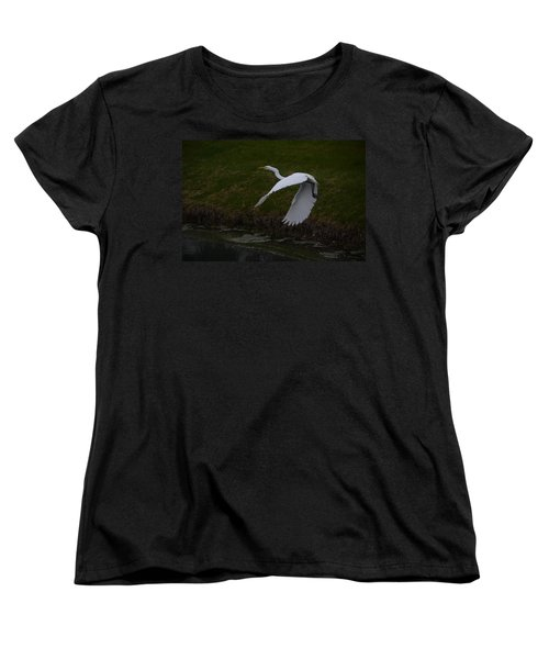 White Egret Women's T-Shirt (Standard Cut)