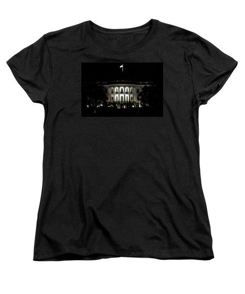 Women's T-Shirt (Standard Cut) featuring the photograph White House In December by Suzanne Stout