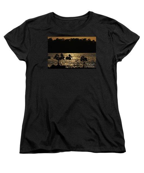 Women's T-Shirt (Standard Cut) featuring the photograph White Pelican Evening by Dan Friend