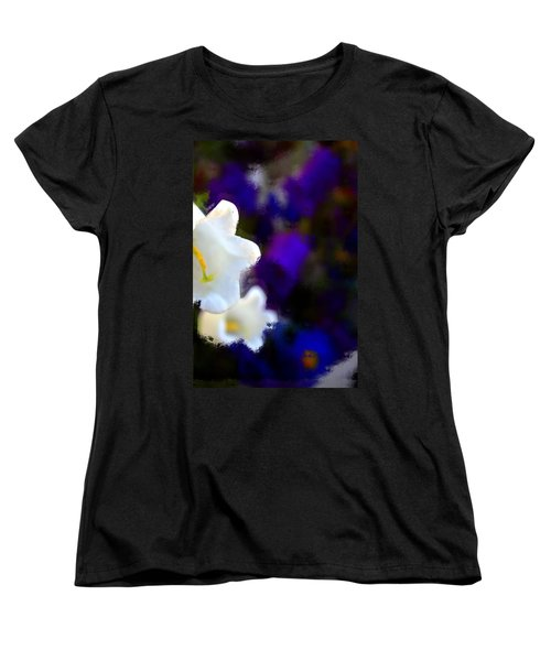 White Purple Women's T-Shirt (Standard Cut) by Terence Morrissey