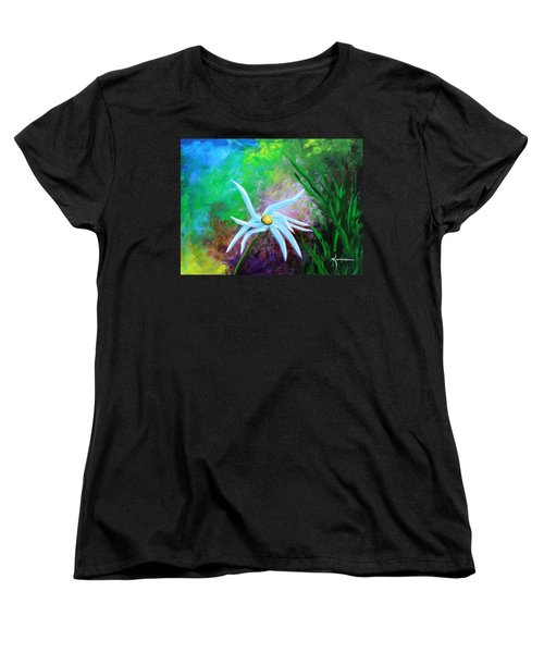 Women's T-Shirt (Standard Cut) featuring the painting Wild Daisy 2 by Kume Bryant