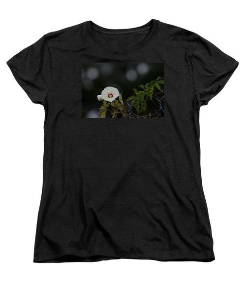 Women's T-Shirt (Standard Cut) featuring the photograph Wildflower On Fence by Ed Gleichman