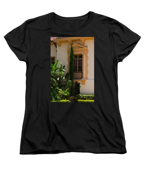 Women's T-Shirt (Standard Cut) featuring the photograph Window At The Biltmore by Ed Gleichman