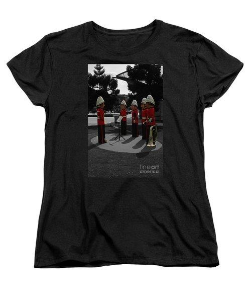 Women's T-Shirt (Standard Cut) featuring the photograph Wooden Bandsmen by Blair Stuart