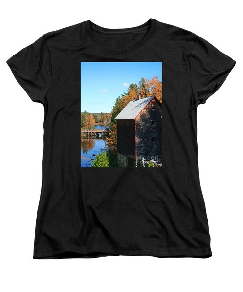 Women's T-Shirt (Standard Cut) featuring the photograph Working Gristmill by Barbara McMahon