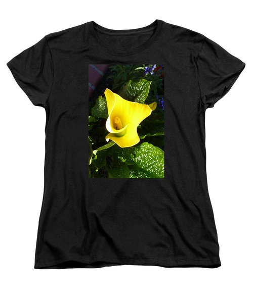 Women's T-Shirt (Standard Cut) featuring the photograph Yellow Calla Lily by Carla Parris