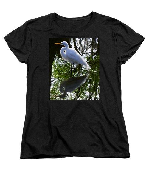 Yin And Yang Women's T-Shirt (Standard Cut) by Judy Wanamaker
