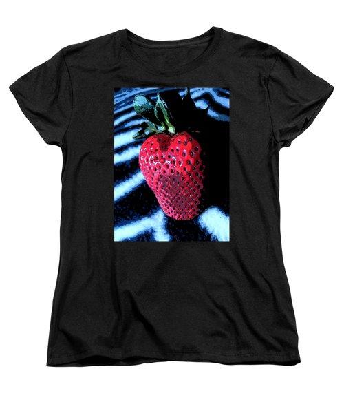 Zebra Strawberry Women's T-Shirt (Standard Cut) by Kym Backland