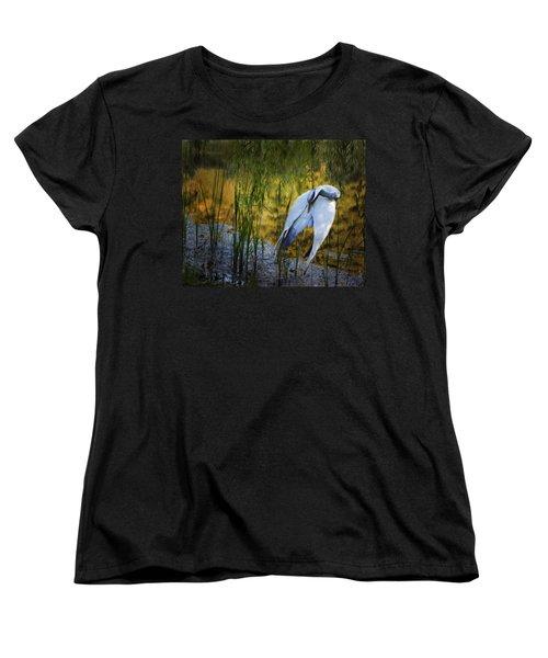 Zen Pond Women's T-Shirt (Standard Cut) by Melinda Hughes-Berland