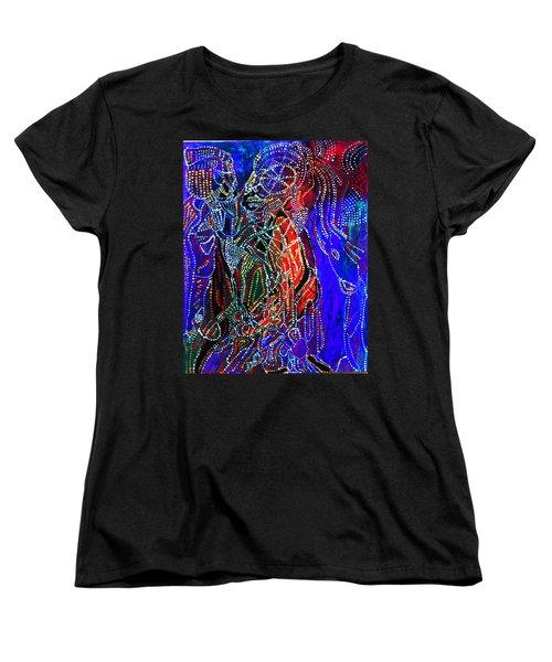 Women's T-Shirt (Standard Cut) featuring the painting Zulu Bride by Gloria Ssali