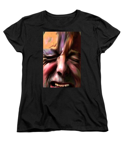 Women's T-Shirt (Standard Cut) featuring the photograph       Disabled Vet by Terence Morrissey