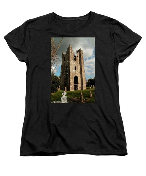 Church In Duleek. Women's T-Shirt (Standard Cut) by Martina Fagan
