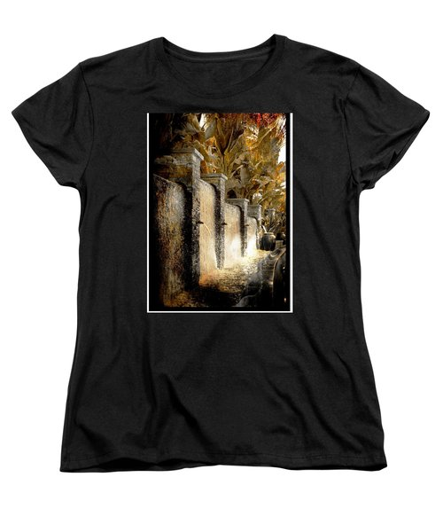 Women's T-Shirt (Standard Cut) featuring the photograph   Flowing Waterfall  by Athala Carole Bruckner