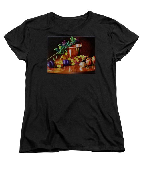 Women's T-Shirt (Standard Cut) featuring the painting  Pail Of Plenty by Gene Gregory