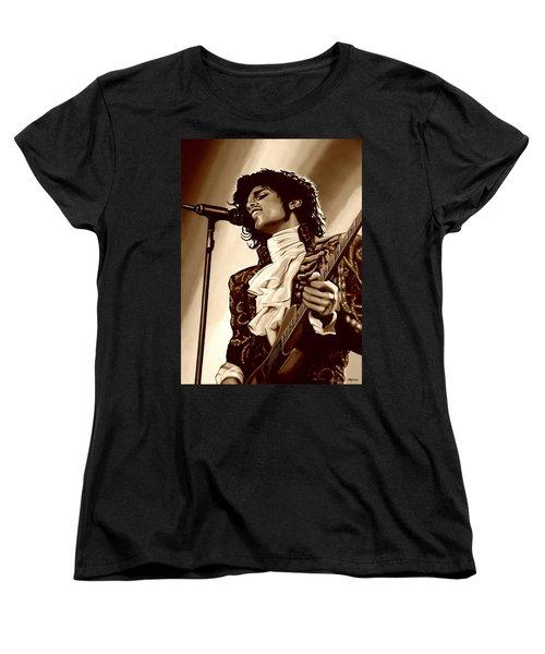 Prince The Artist Women's T-Shirt (Standard Cut) by Paul Meijering