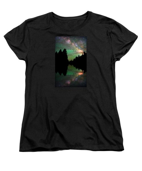 Starry Dreamscape Women's T-Shirt (Standard Cut) by Matt Helm