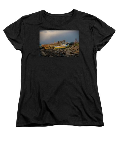 Sunset In The Highlands Women's T-Shirt (Standard Cut) by Terry Cosgrave