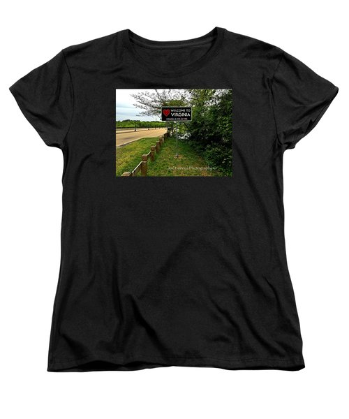 Women's T-Shirt (Standard Cut) featuring the digital art  Welcome To Virginia  - No.430 by Joe Finney