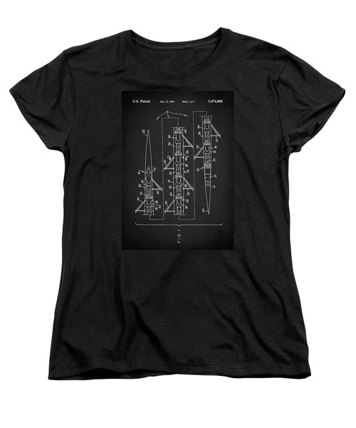 8 Man Rowing Shell Patent Women's T-Shirt (Standard Cut) by Taylan Apukovska