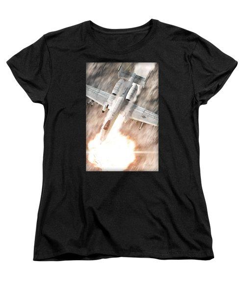 A-10 Thunderbolt II Women's T-Shirt (Standard Cut) by David Collins