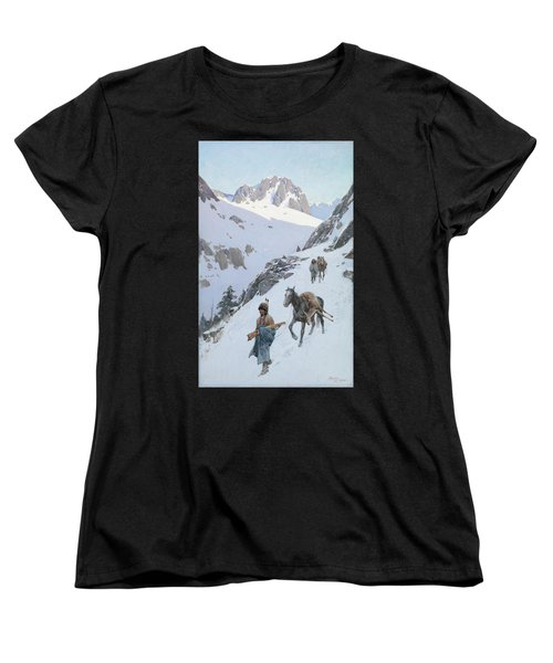 Women's T-Shirt (Standard Cut) featuring the drawing A Successful Hunt by Henry Francois Farny