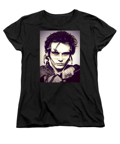 Adam Ant Women's T-Shirt (Standard Cut) by Fred Larucci
