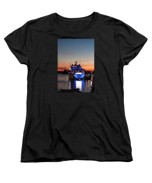 Women's T-Shirt (Standard Cut) featuring the photograph An Evening In Newport Rhode Island by Suzanne Gaff
