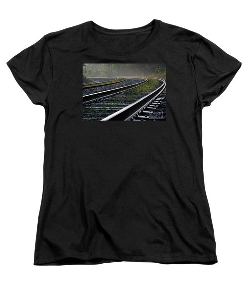 Women's T-Shirt (Standard Cut) featuring the photograph Around The Bend by Douglas Stucky