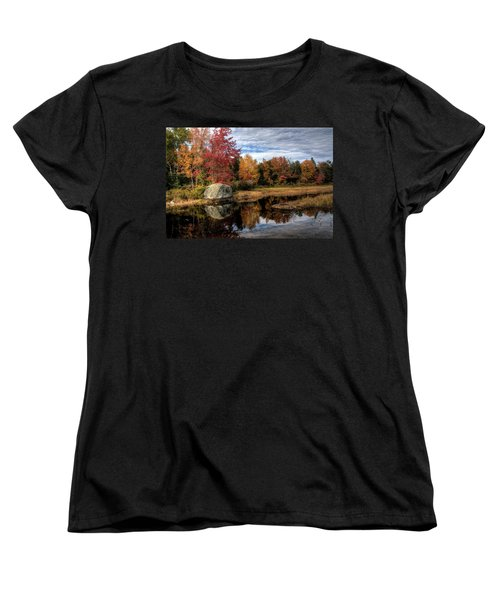 Autumn In Maine Women's T-Shirt (Standard Cut) by Greg DeBeck