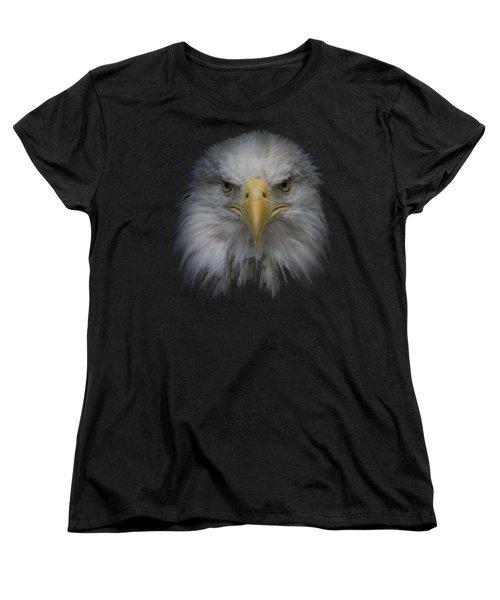 Bald Eagle Women's T-Shirt (Standard Cut) by Ernie Echols