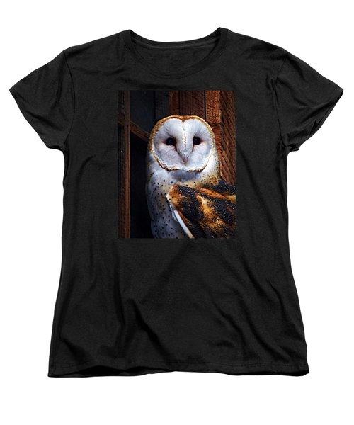 Barn Owl  Women's T-Shirt (Standard Cut) by Anthony Jones