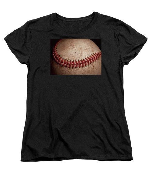Women's T-Shirt (Standard Cut) featuring the photograph Baseball Seams by David Patterson