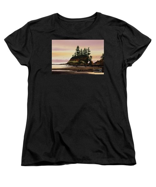 Women's T-Shirt (Standard Cut) featuring the painting Beautiful Shore by James Williamson