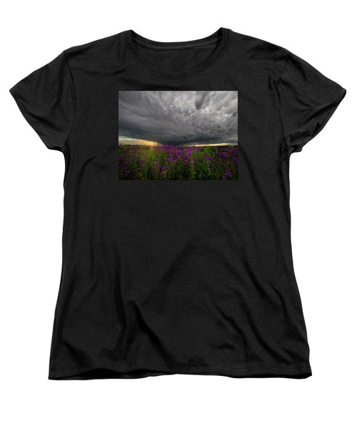 Women's T-Shirt (Standard Cut) featuring the photograph Beauty And The Beast by Aaron J Groen