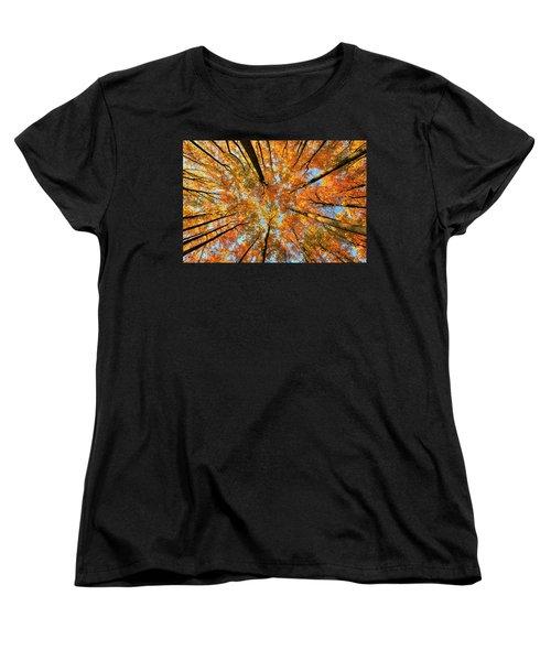 Beneath The Canopy Women's T-Shirt (Standard Cut) by Edward Kreis