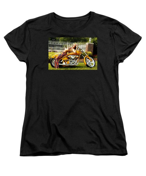 Bikes And Babes Women's T-Shirt (Standard Cut) by Clayton Bruster