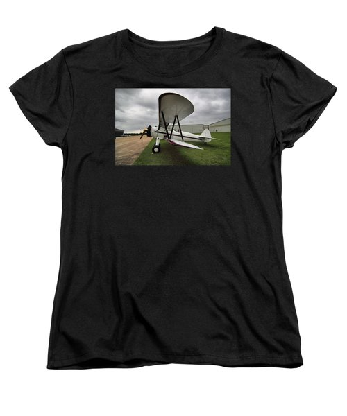 Women's T-Shirt (Standard Cut) featuring the photograph Boeing Stearman M7 by Linda Unger