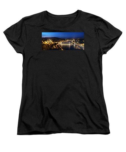 Budapest. View From Gellert Hill Women's T-Shirt (Standard Cut) by Michal Bednarek