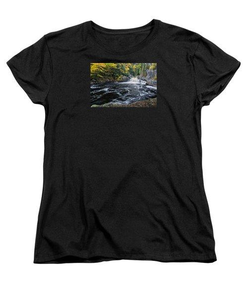 Buttermilk Falls Gulf Hagas Me. Women's T-Shirt (Standard Cut) by Michael Hubley
